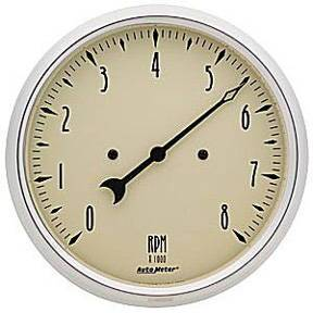 "Instrument Gauges - Auto Meter Antique Beige Series, 5"" Tach Photo Main"