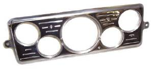 Dash Panel 39 Chevy Car - Billet Aluminum, Polished - 5 Hole Combo 1med-4sml Photo Main