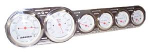 "Dash Panel - Universal, Polished Billet Aluminum. 6 Gauge 3-3/8"" Speedo & Tach Photo Main"