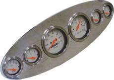 "Dash Panel Universal - Billet Aluminum, Polished - Oval 6 Gauge 3-3/8"" Speedo & Tach Photo Main"