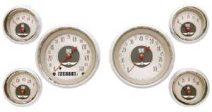 Instrument Gauges - (6 Gauge Set) - All American Nickel Series 12v Photo Main
