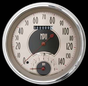 "Classic Instruments Speedtachular (Speedo-Tach Combo), 5"" - All American Nickel Series 12v Photo Main"