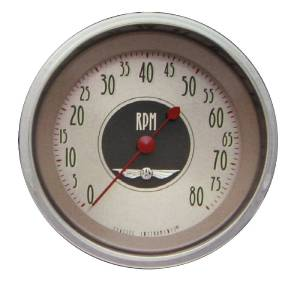 "Instrument Gauges - Tach 8000rpm - All American Nickel Series, 3-3/8"" 12v Photo Main"