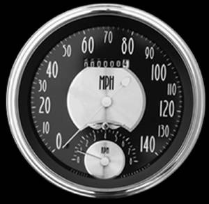 "New Classic Instruments 5"" Speedtachular Speedo-Tach Gauge - All American Tradition Series 12v Photo Main"