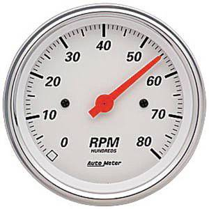 "Instrument Gauges - Auto Meter Arctic White Series, 3-3/8"" Tach, Arctic White Series Photo Main"