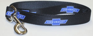 "Dog Leash With ""Chevy"" Bowtie Logo Repeated On A 4 Foot By 1"" Strap Photo Main"
