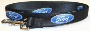 "Dog Leash With ""Ford"" Oval Logo Repeated On A 4 Foot By 1 Inch Strap Photo Main"