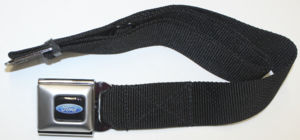 "Seatbelt Belt Black Strap With ""Ford"" Blue Oval Buckle  Photo Main"