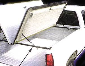 Bed Lid - Butterfly Lift Fiberglass With Primered Finish & Carpet Under Photo Main