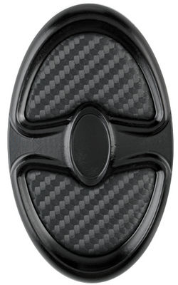 Brake Pedal, Billet Oval, Profile Series Black Anodized With Carbon Fiber Insert Photo Main
