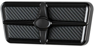 Brake Pedal, Billet, Universal Profile Series Black Anodized With Carbon Fiber Insert Photo Main