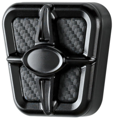 Emergency Brake Pedal, Billet Universal, Profile Series Black Anodized With Carbon Fiber Insert Photo Main