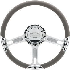 Billet Steering Wheel. Select Edition Half Wrap - 14 Inch, Boost Photo Main