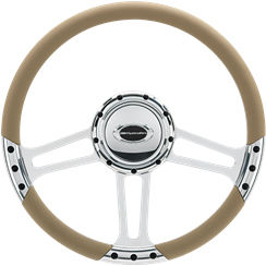 Billet Steering Wheel. Select Edition Half Wrap - 14 Inch, Draft Photo Main