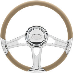 Billet Steering Wheel. Select Edition Half Wrap - 14 Inch, Impact Photo Main