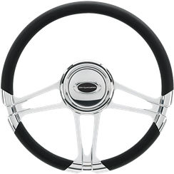 Billet Steering Wheel. Select Edition Half Wrap - 14 Inch, Monaco Photo Main