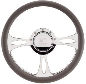 Steering Wheel, Billet, Half Wrap -14 Inch, Fast Lane Photo Main