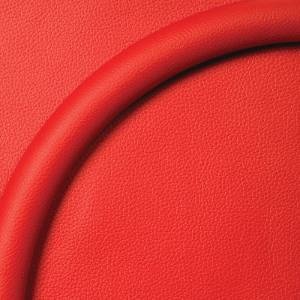 "Steering Wheel Half Wrap For Billet Wheel -15.5"" Red Leather Photo Main"