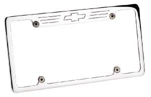 License Plate Frame - Billet Aluminum With Bowtie Photo Main