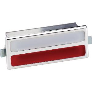 Interior Light -Rectangular. White & Red Lens And Polished Billet Housing (Billet Specialties) Photo Main