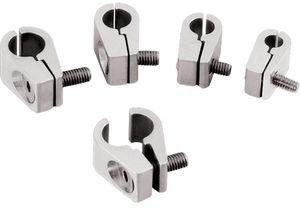 "Line Clamps -3/8"" Single -Billet -4 pack Photo Main"
