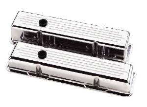 Valve Covers Billet. Chevy Sb, Ball Milled - Tall Photo Main