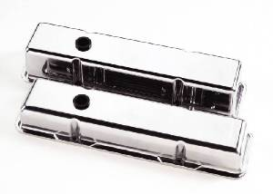 Valve Covers Billet. Chevy Sb, Smooth - Tall Photo Main
