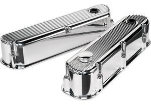 Billet Valve Covers-Profile Series. Ford Sb, Ribbed - Tall Photo Main