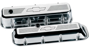 Valve Covers, Chevy Big Block, Polished W/ Bowtie - Short Photo Main