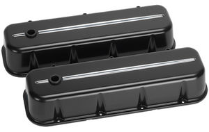 Valve Covers, Chevy Big Block, Streamline Series, Black Powder Coated - Tall Photo Main