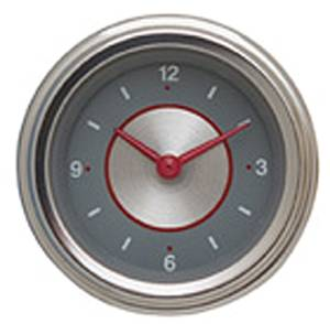 "Instrument Gauges - Clock With Reset Button - Silver Series - Flat Lens (2-1/8"" Dia.) 12v Photo Main"