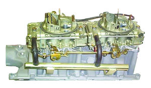 Induction Systems - Ford. Dual Quad Manifold With 390 CFM Holley Carburetors - 289 & 302 Photo Main