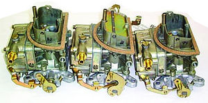 Carburetor - Ford. New, 2881-2882 Tri Power Carburetors - 289 & 302 Photo Main
