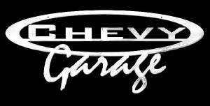 "Sign, ""Chevy Garage"" Wall Sign -Laser Cut Polished Stainless Steel. 32"" X 13"" Photo Main"