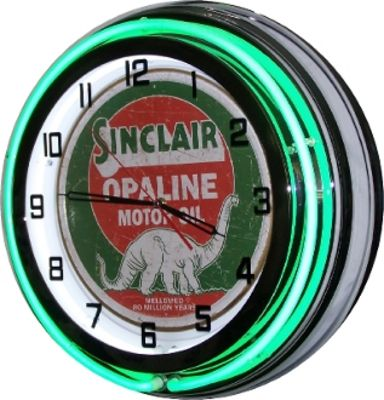 Clock Green Neon Antique Sinclair  Photo Main