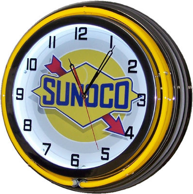 Clock-Yellow Neon Sunoco Gas Photo Main