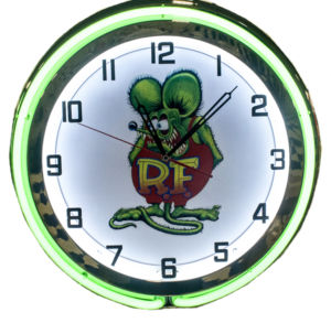 Clock Green Neon Rat Fink Photo Main