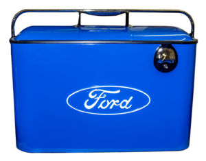 "Coolers Blue - Vintage ""Ford"" Cooler Includes Mini Tray And Side Mount Bottle Opener Photo Main"