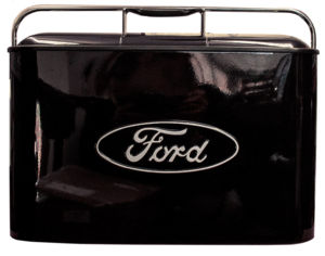 "Coolers Black - Vintage ""Ford"" Cooler Includes Mini Tray And Side Mount Bottle Opener Photo Main"