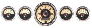 Instrument Gauges - Auto Meter Cruiser Series, 3-3/8, 5 Gauge Set (Electronic Speedo) Photo Main