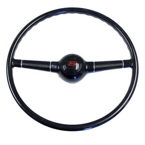 Steering Wheel Gloss Black 16''  40 Ford Fits GM Column Photo Main