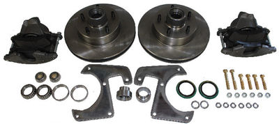 Brake Disc Conversion Front- 1928-40 Straight Axle Car And Truck. Complete Kit - 6 Lug Photo Main