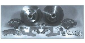 Brake Disc Conversion Front - 49-54 Chevy Car Independent Front Suspension (Also 53-62 Corvette). Complete Kit - 5 Lug Photo Main