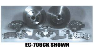 Brake Disc Conversion Front- 39-40 Knee Action. Complete Kit - 5 Lug Photo Main