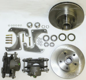 Brake Disc Conversion Front- 1928-40 Straight Axle Car And Truck. Complete Kit - 5 Lug Photo Main