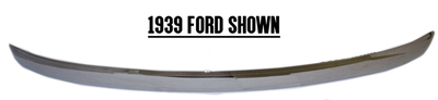 Bumper Ford Passenger Car - Front & Rear; & 40-41 Pickup - Front Polished Stainless, Smooth, No Bolt Holes, Stud Mounted Photo Main