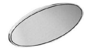 "Rear View Mirror, Fatties Super - Oval Head 4-1/2"" X 1-3/4"" Polished Photo Main"