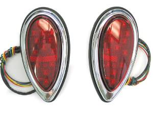 Tail Light, Led Tear Drop (38-39 Ford) Flush Rear Mount 12 Volt With Seal Photo Main
