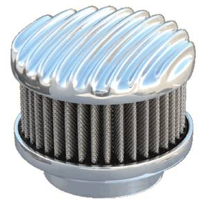 "Air Cleaner, Finned Aluminum Short (2"" Tall). Choose Carb Neck Size & Finish (Polished Or Unpolished) Photo Main"