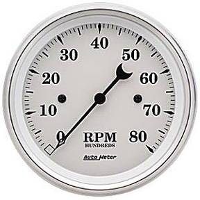 "Instrument Gauges - Auto Meter Old Tyme White, 3-3/8"" Tach Photo Main"